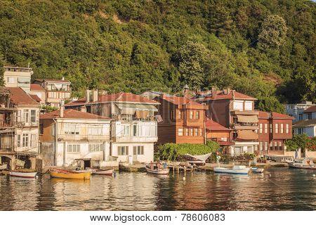 Small Fishermen Village At The Bosphorus Strait, Istanbul, Turkey