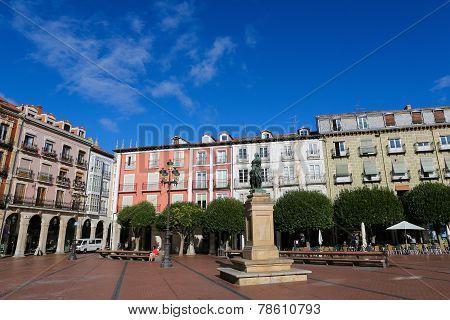 Plaza Mayor In Burgos, Spain