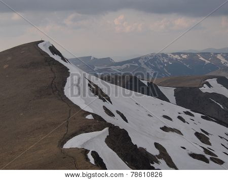 Carpathian mountains 2 under snow in spring