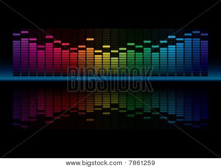 Coloful Graphic Equalizer Display