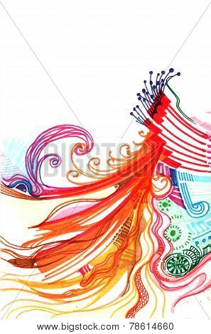 Abstract Colourful Background Hand Drawn
