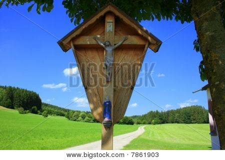 Landscape With Wayside Cross, Germany
