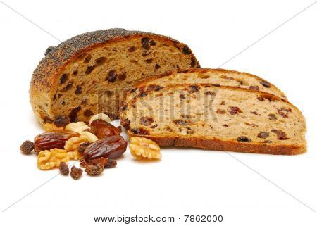 Fruit Loaf Isolated