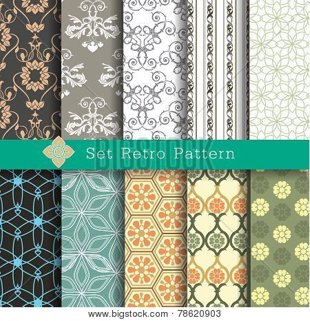 Set Retro Pattern