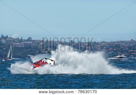 Jet boat on Sydney Harbour