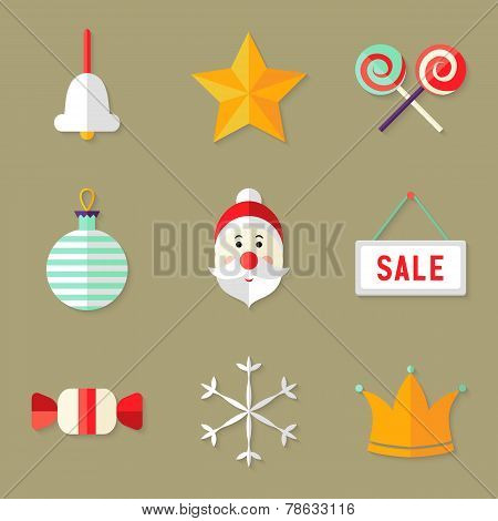 9 Christmas Icons Set 1