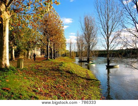 November on the Saone River
