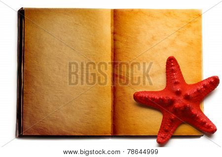 Open Book And Red Seastar