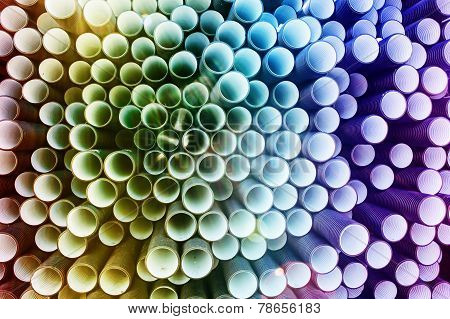 colorful PVC pipes