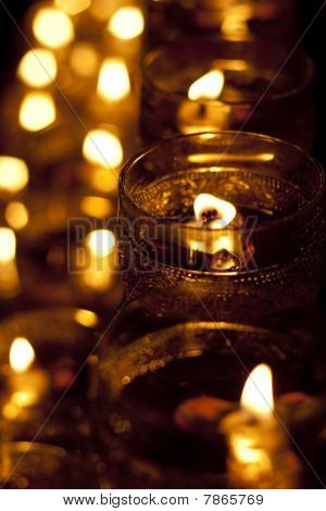 Wesak Day Celebration Candle