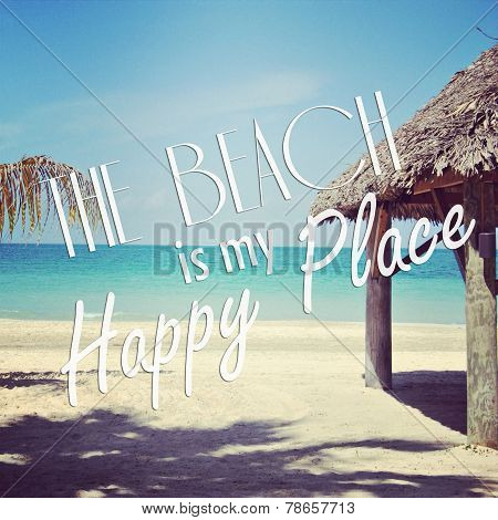 Instagram Of Tropical Beach With Quote