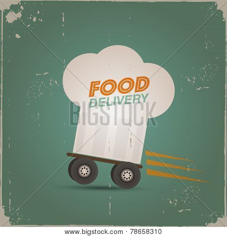 Chef's hat delivery poster