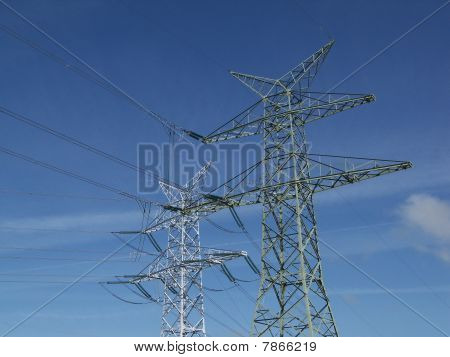 power towers and lines