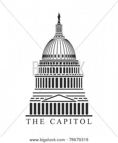 An illustration of Capitol building concept