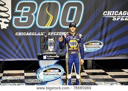 Joliet, IL - Jul 19, 2014:  Chase Elliott (9) wins the EnjoyIllinois.com 300 at Chicagoland Speedway in Joliet, IL.