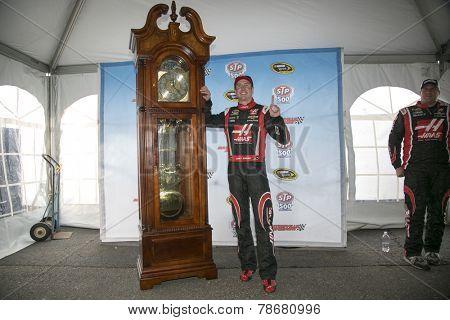Ridgeway, VA - Mar 30, 2014: Kurt Busch (41) wins the