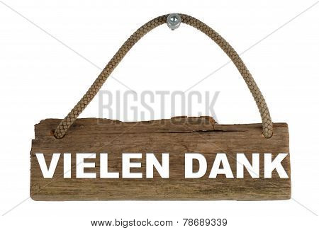 Wooden board thank you