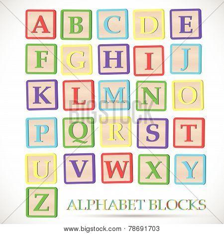 Alphabet Block Illustration
