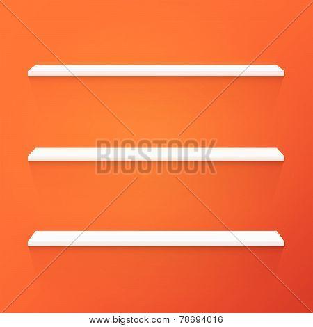 Shelves, Vector Illustration