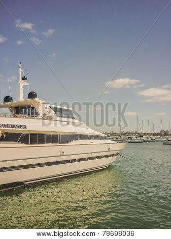 Yacht At Punta Del Este Port