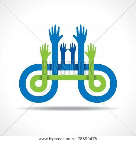 Business icon with hand stock vector