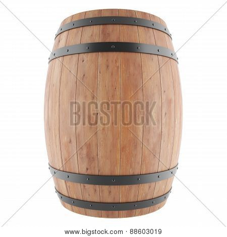Wine, whiskey, rum, beer, barrel isolated on a white background.