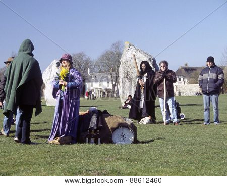 Spring Equinox at Avebury Stone Circle, UK