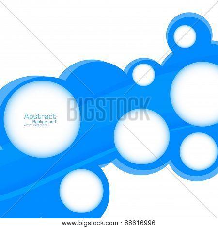 Abstract Web Design Bubble. Vector