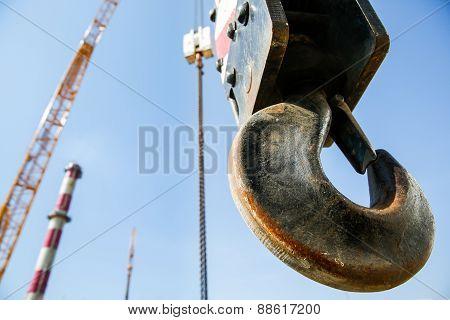 Hook Of A Mobile Lifting Crane