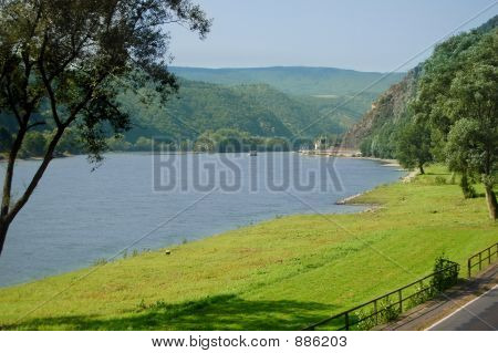 Scenic River Rhine