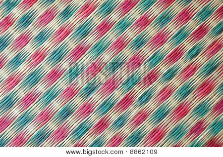 Colorful Woven Mat Handicraft