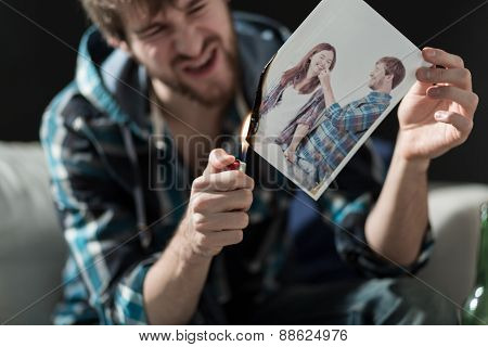 Burning Photo With Ex-girlfriend