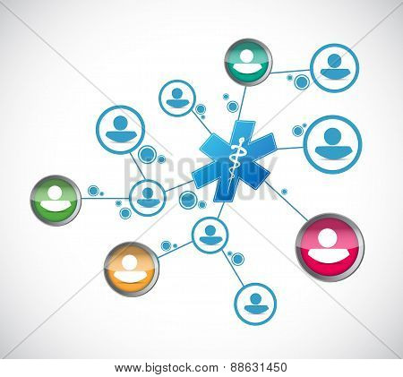 People Network And Medical Concept
