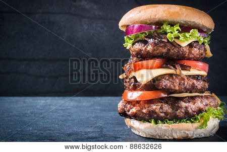 Triple American Burger