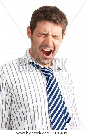Yawning Businessman