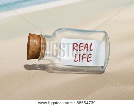 Real Life Message In A Bottle