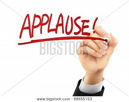 Applause Written By 3D Hand