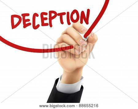 Deception Written By 3D Hand