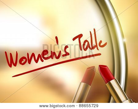 Women's Talk Words Written By Red Lipstick
