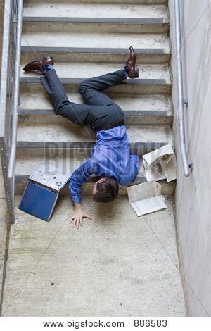 Man Falling Down Stairs