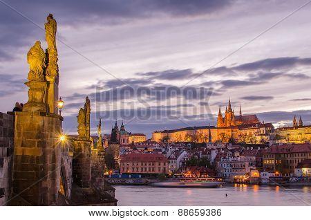 Castle of Prague (Czech Republic), Charles (Karluv) Bridge and Vltava River