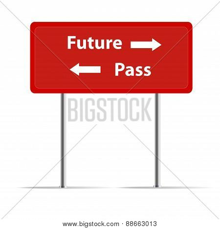 The red Trafic Sign show the Pass And Future poster