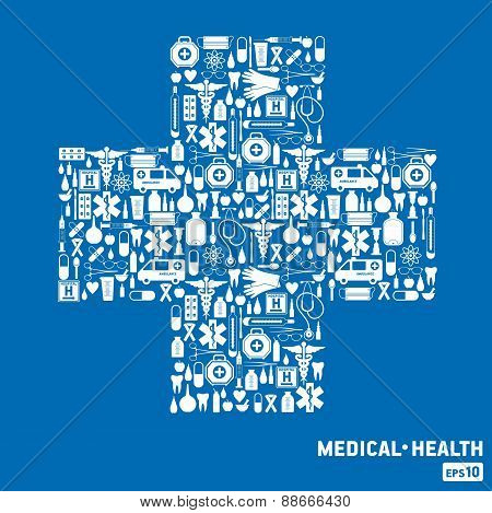 Medical cross.