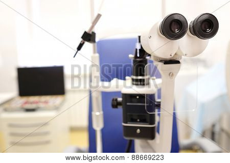 microscope in an oculist office