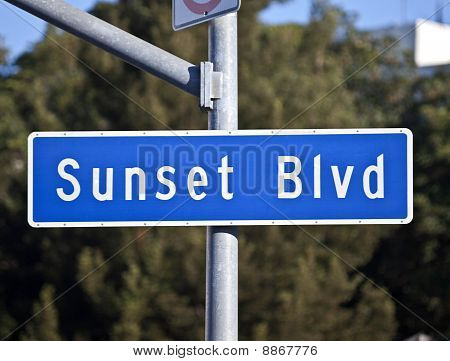Sunset Blvd Sign