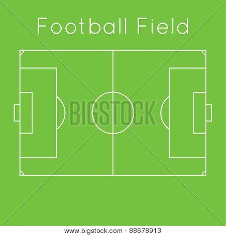 Green football field.