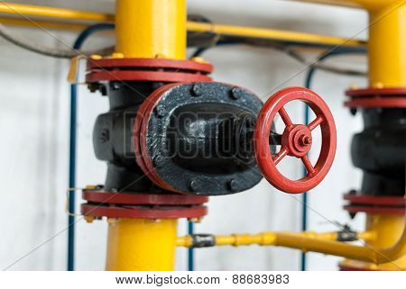 Control Valve Supplying Gas To The Industrial Boiler.