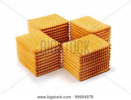 Stacks Of Tea Biscuits