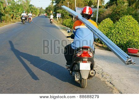 Asian Man, Transportation, Danger, Motorbike