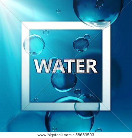 illustration of transparent fresh shiny water bubbles